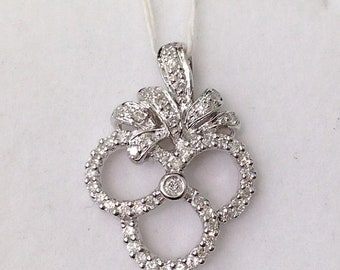 0.48 Carat Diamond Pendant - 14K White Gold