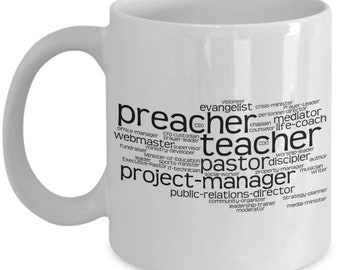 Pastor Appreciation Gift Gifts Mug Youth Pastoral New Best Birthday