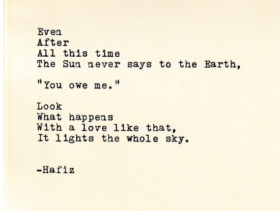 Hafiz Quotes Mesmerizing Hafiz Quote Made On TypewriterTypewriter Quote Famous Etsy