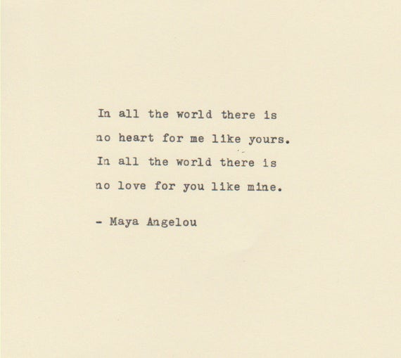 Maya Angelou Love Quotes Custom THE MAYA ANGELOU Love Quote Made On Typewriter Typewriter Etsy