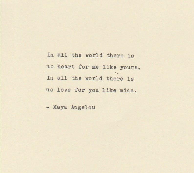 La Citazione Di Amore Maya Angelou Fatto Sulla Macchina Da Etsy