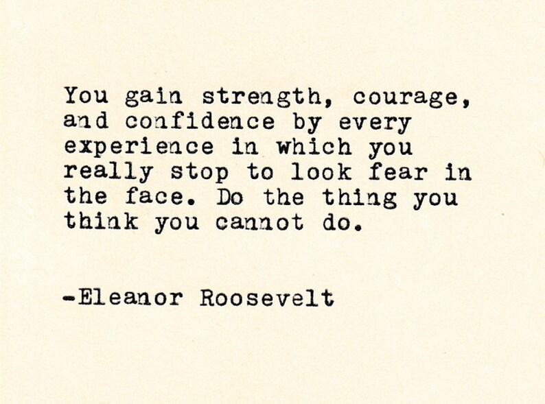 Inspirational Quote Eleanor Roosevelt Roosevelt Etsy