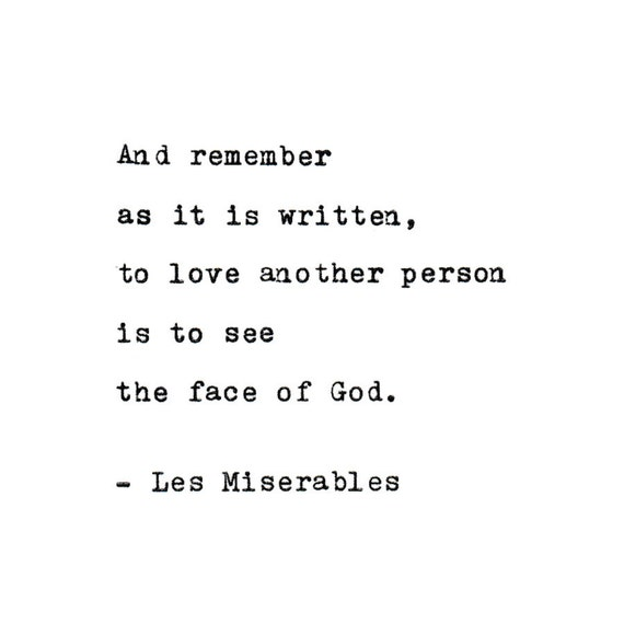 Les Miserables Love Quote Made On Typewriter Typewriter Quote Famous Quotes