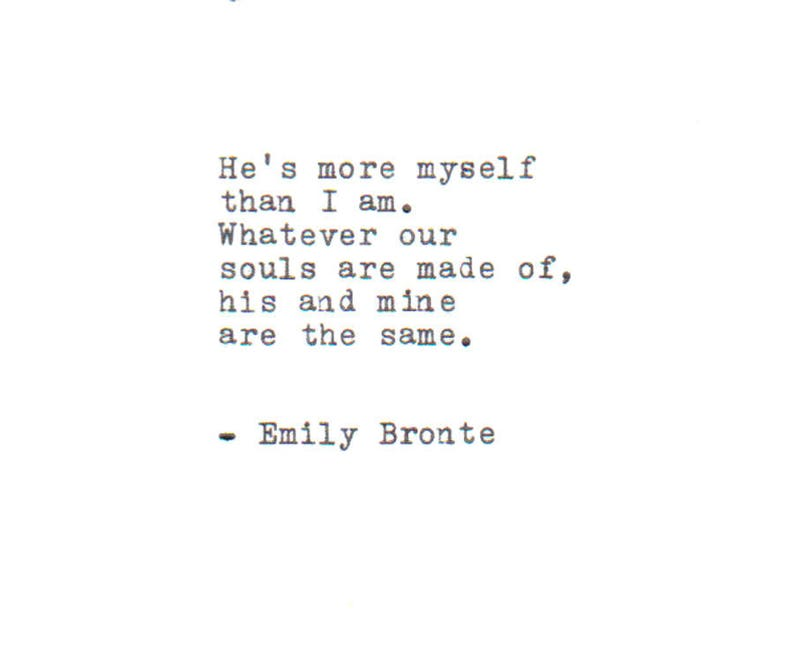 Personalizzate La Citazione Di Amore Di Emily Bronte Etsy
