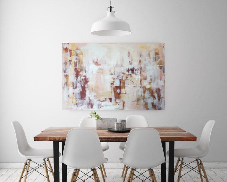 Orange Abstract ArtFall Canvas ArtFarmhouse ArtworkDining