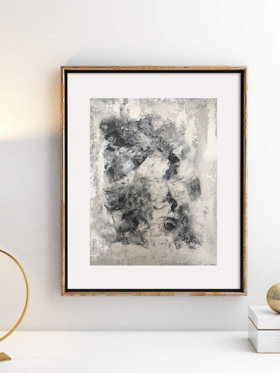 Frame Wall art Simple Wall Art white amd gold abstract art | Etsy