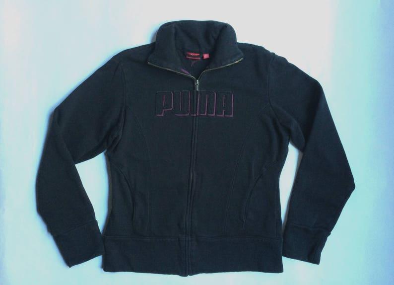 9d39274bd0 Noir Warm femmes Puma rétro Up Jacket Zip avant Sweatshirt | Etsy