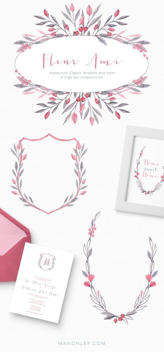 wreath graphics laurel clipart flower png clipart watercolor floral antler clipart laurel graphics wreath clipart wedding clipart