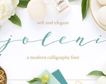 calligraphy font, modern calligraphy font, wedding font, Joleni font, handlettered font, handlettered font, ttf otf  feminine font,