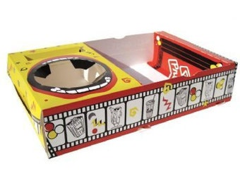 Movie night snack tray (18), concession tray, movie night party, drive in birthday, party supplies, drive in party, snack tray box food tray