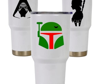 Star Wars cup decal, Star wars Yeti Tumbler decal, Vinyl decal, Waterproof vinyl decal sticker, Personalized Yeti cup, Boba Fet, Kylo Ren