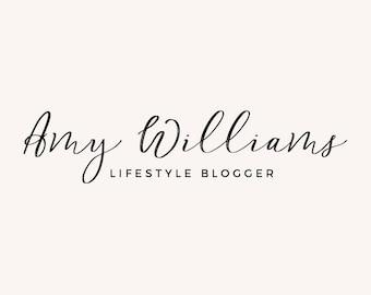 Premade Logo - Logo Design - Feminine Logo - Business Logo - Blogger Logo - Brand Design - Blog Header