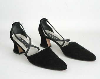 55fe856c33c Womens Black Velvet Pumps Size 9