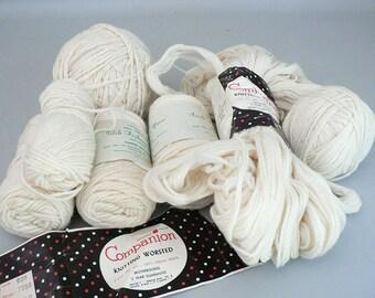 055f0b4c20db03 Knitting Worsted Virgin Wool Yarn Bundle Irish Fisherman Yarn