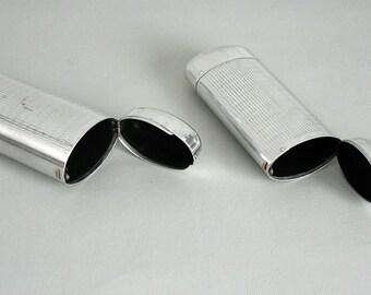 Eye Glass Case Vintage Metal Silver