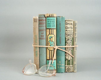 Home Decor Neutral and Sage  Book Set