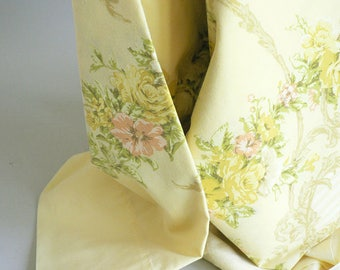 Yellow Floral Full Double Bed Sheet