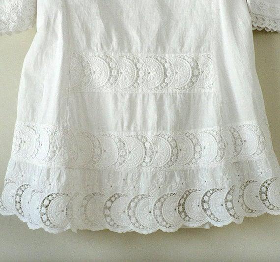Antique Childs Victorian White Dress