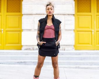 Set BLACK for women/ Set 2 pieces for women/ Original set of jacket and skirt/ Steampunk.