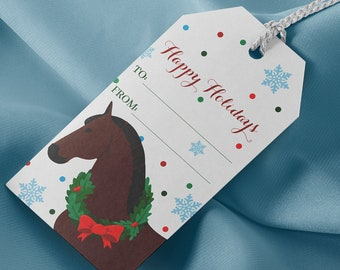 Holiday Horse Gift Tags
