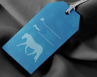 Snowflake Horses Gift Tags