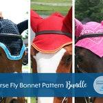 Horse Fly Bonnet Pattern BUNDLE, Sewing, Crochet, Instant Download