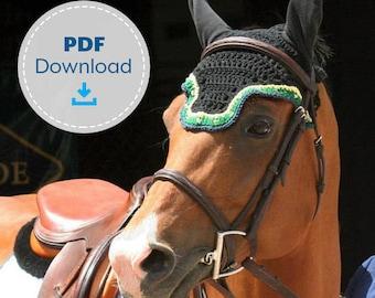 Horse Fly Bonnet Pattern, Crochet Pattern, Digital Download