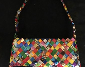 "Vintage ""candy wrapper"" purse"