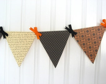 Sleepy Hollow Paper Pennant Banner Decoration for Sophisticated and Vintage Halloween Decor and Parties