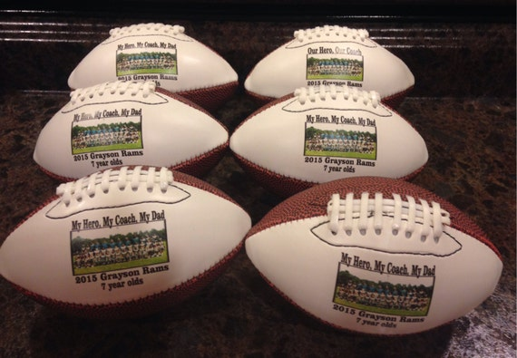 ac9c7cee4c6 Personalized Customized Mid-Size Footballs for Coaches