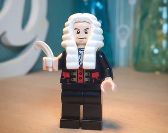 Bach Lego® Keychain Classical Music Lover Classical History Lego People Figure Johann Sebastian Bach Custom Lego Minifig Bach Composer