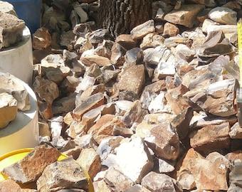 24 pounds flint Indian quarry debitage knapping arrowhead flintlock musket