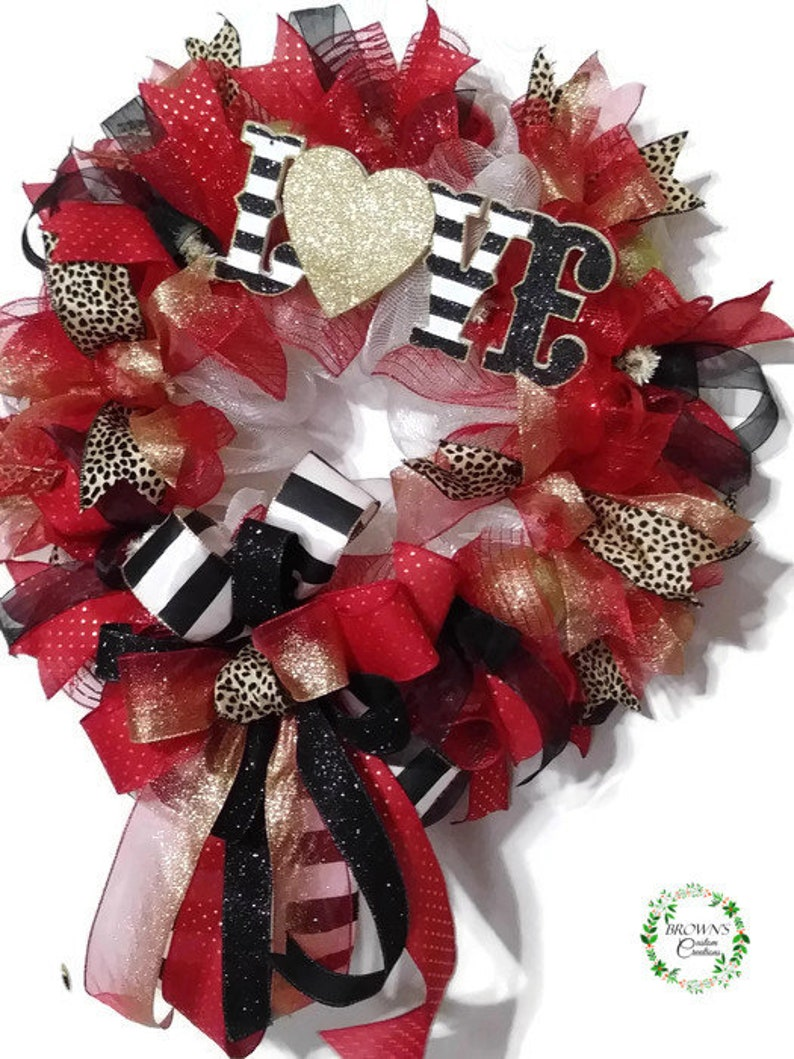 Valentines Wreath Gifts for Valentines Day Valentine Day Decoration Wreath for Valentines Valentine Day Decor Gift for Mom