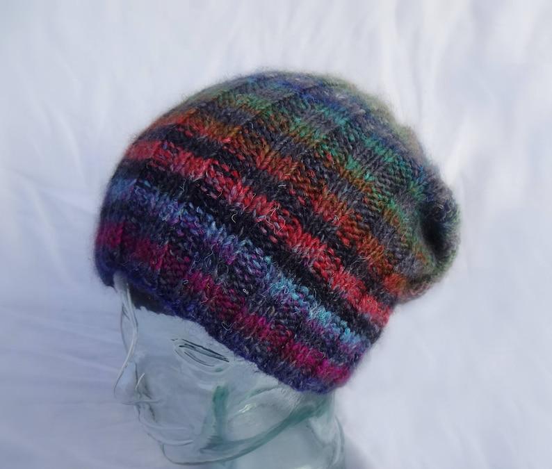 13e1138c1a2 Knit Hat Ribbed Beanie Striped Toque Multi Color Striped