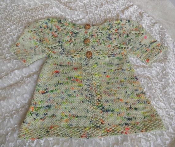 d61cf8adb5c3 Knit Baby Sweater Short Sleeve Baby Cardi Wool Blend Baby