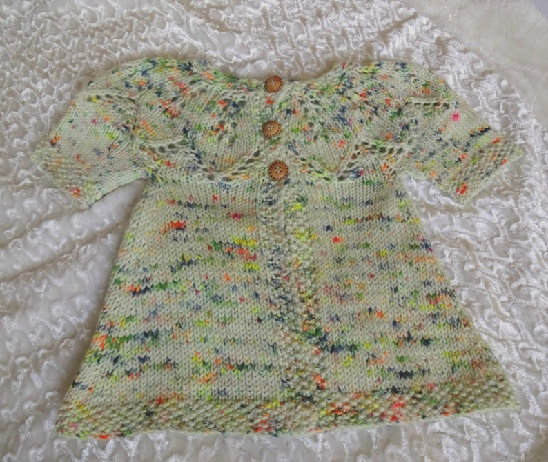 486d8e0b3 Knit Baby Sweater Short Sleeve Baby Cardi Wool Blend Baby