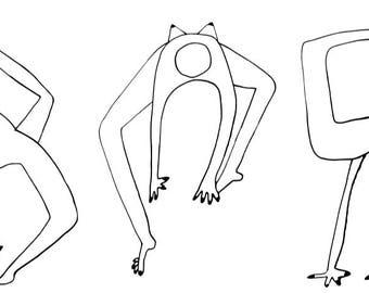 yoga pose love card set