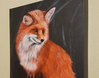 "Loki The Fox  - 12x16"" Repro on Canvas – WyldArt Series"