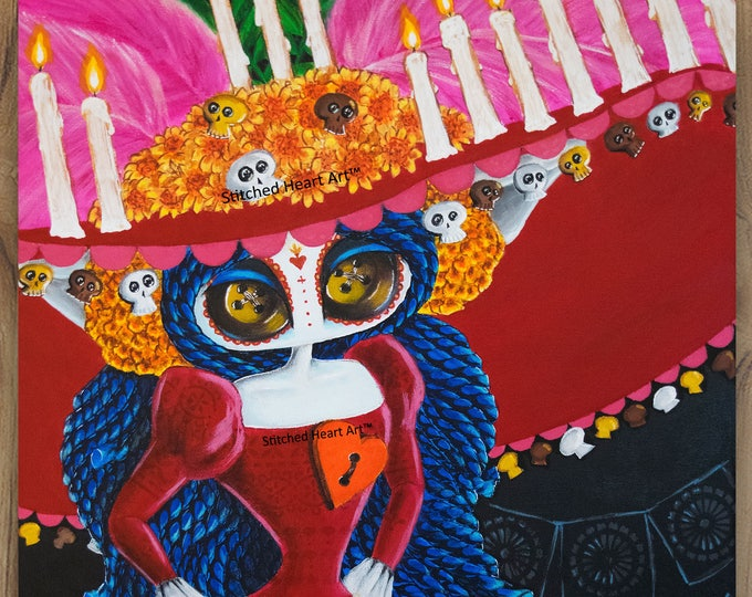 """The Majesty of Finality - 11x14"""" Reproduction Print - Inspired by the La Muerte"""