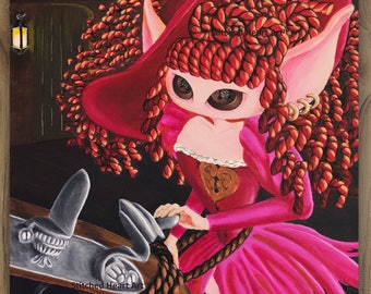 "She Said; I'm not for Sale  - 11x14"" Repro Print - Muse inspired by the Red Head Pirates of the Caribbean - MuseArt"