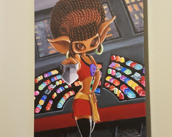"She Boldly Goes – 12x16"" Repro on Canvas - Muse inspired by Uhura from Star Trek – MuseArt"