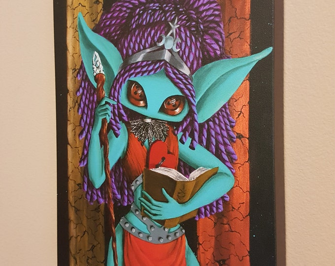 "The High Priestess - 12x16"" Repro on Canvas – Major Arcana Tarot Series"