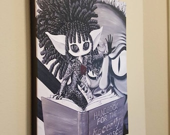 "Strange & Unusual  – 16x20"" Repo on Canvas - Inspired by Lydia Deetz and Beetlejuice - MuseArt"
