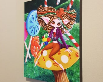 """Pure Imagination – 16x20"""" Repro on Canvas - Inspired by Willy Wonka and Gene Wilder - MuseArt"""