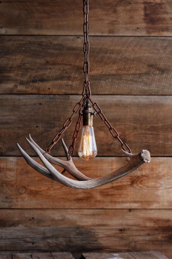 Items Similar To The Durango Chandelier Antler Pendant