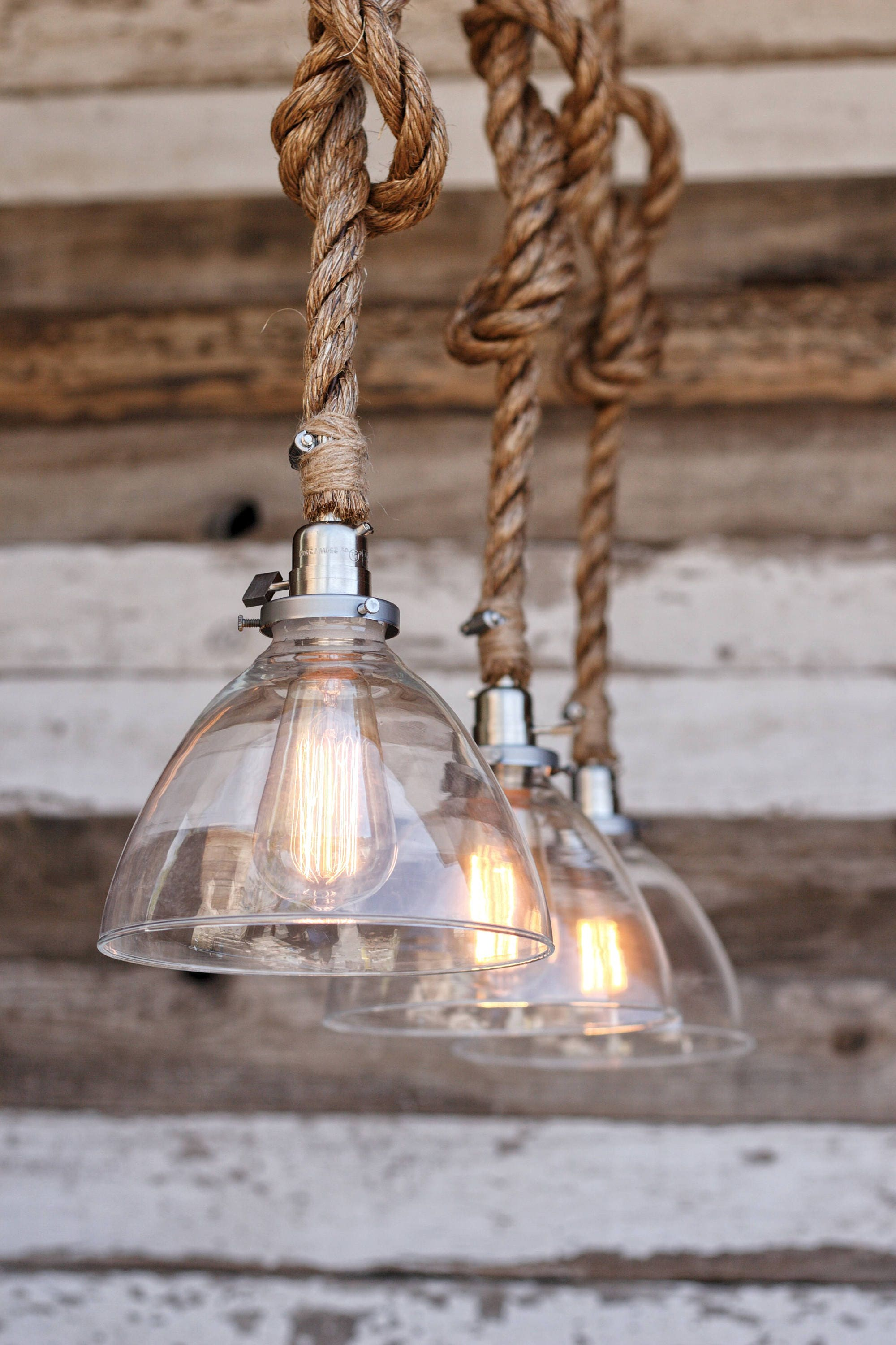 The snow pendant light industrial rope light fixture etsy zoom aloadofball Choice Image