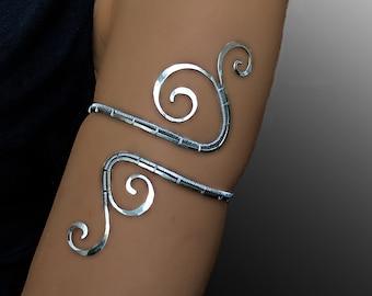Spiral Upper Arm, upper arm cuff, upper arm bracelet, arm jewelry, Upper arm wrap, copper jewelry, arm cuff, bracelet women