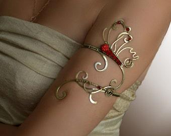 Spiral armlet, arm cuff, armlet, Upper Arm Cuff, Upper arm bracelet, Jewelry, arm bracelet, Butterfly jewelry, copper jewelry