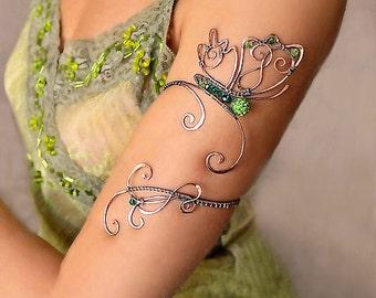 Spiral Upper Arm, arm cuff, armlet, Upper Arm Cuff, Upper arm bracelet, Jewelry, arm bracelet, Butterfly jewelry, copper jewelry