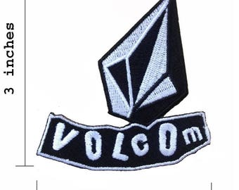 Volcom Logo Embroidered Iron On Patch.